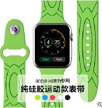供应智能手表手环苹果applewatch表带硅胶双色表带批发定制