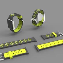 厂家直销苹果applewatch智能手表表带硅胶双色一件代发