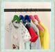儿童实木衣架子小孩防滑彩色木头衣挂童装服装店木质衣撑包邮