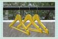 黄色防滑实木衣架服装店衣服架童装木质衣撑小孩子晾晒衣挂包邮