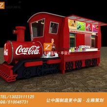 户外火车售卖亭可定制冰激凌烧烤食品零售花车