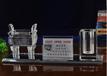 西安水晶笔筒三件套创意桌摆礼品定制开业纪念刻字办公室摆件