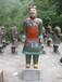 陕西仿古兵马俑未央彩色陶俑工艺品1.9米仿古铜兵马俑
