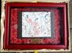 陕西彩绘壁画艺术品唐代壁画相框工艺品捕蝉图步辇图?#31080;?#30011;礼盒