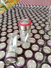 西安会议玻璃杯双层隔热防烫口杯品牌玻璃杯免费印字图片
