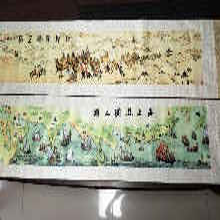 西安丝绸卷轴海上陆上丝绸之路双卷轴丝织工艺收藏礼品一带一路工艺品