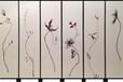 木居时代muju2288手绘漆画屏风金箔装饰画堆金漆画