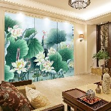 木居时代muju6698中式古典屏风欧式屏风客厅漆画挂画图片