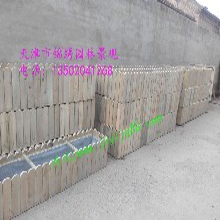 天津市北辰区炭化木地板花箱秋千定制厂家图片