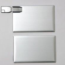 金属卡片U盘,WEBKEYU盘,金属名片U盘.翻转金属卡片U盘图片