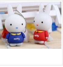 可爱迷你创意兔子8Gu盘现货批发卡通兔礼品u盘8g
