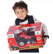 豪华升级悍马王红色遥控汽车越野儿童玩具车充电遥控车赛车大礼盒6-14岁