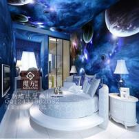 主题酒店3D壁画,餐厅装修壁画,星空墙纸,主题星空壁纸图片