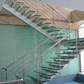 天津静海定做安装不锈钢楼梯扶手、踏步楼梯、整体楼梯、楼梯配件齐全!图片1