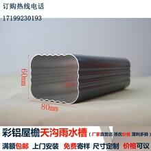 彩色铝合金方形雨水管规格有几种图片