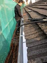 成品天沟,彩铝天沟厂家,铝合金雨水槽系统图片