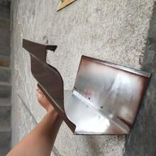 六盘水铝合金雨水槽成品天沟方形落水管厂家批发图片
