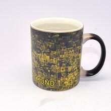 爆款创意变色杯时尚个性马克杯陶瓷礼品杯直身咖啡杯子
