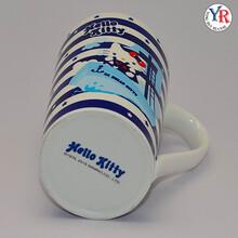 新款可爱hellokitty凯蒂猫水杯创意时尚陶瓷马克杯厂家批发可定制logo