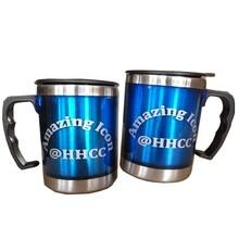 促销礼品变色杯双层塑料广告杯不锈钢带手柄杯子可定制logo