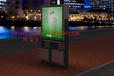 厂家供应云南怒江泸水县大型户外广告垃圾箱LED果皮灯箱不锈钢垃圾箱制作
