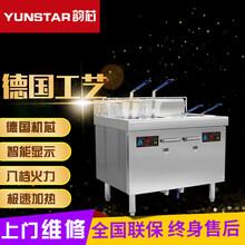 商用电磁炉大功率电磁油炸炉双杠双筛立式精确控温电炸炉图片