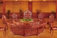 宴会电动转盘餐桌,橡木木质包厢电动餐桌,实木餐桌图片