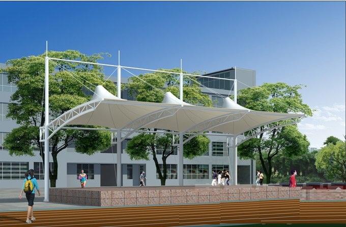 汉中主席台膜结构设计价格实惠汉中遮阳膜结构雨棚施工安装低价促销