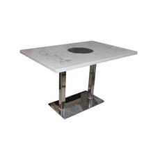 众美德定做火锅店桌椅电磁炉火锅桌蒸汽火锅桌