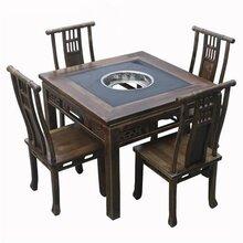 梅州麻辣英雄火锅桌,实木大理石火锅桌椅,连锁餐厅家具,定做到众美德