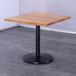 新款北歐式實木餐桌簡約餐廳家具鐵腳實木飯桌原木色實木餐桌子眾美德專業