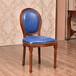 众美德美式实木圆背椅,主题餐厅椅子,酒店椅,西餐厅椅子