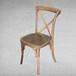 美式实木靠背餐椅休闲复古家具创意客厅餐厅交叉靠背餐椅可订做