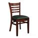 2017新款时尚新中式实木椅子印花餐厅餐桌椅餐椅酒店家具订做
