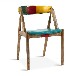 美式实木家具软包餐椅美式乡村家具定做浓咖啡色餐厅家具餐椅订做