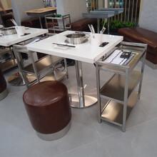 众美德品牌火锅餐台大理石火锅桌订做各种规格电磁炉火锅台