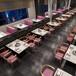 众美德火锅桌01,人造石火锅桌餐桌,现代大理石火锅桌子,专业定做餐饮家具