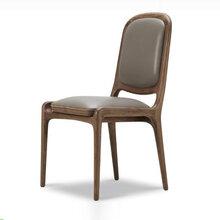 餐厅实木椅子定做,白蜡木餐椅,简约中式餐厅椅子批发图片