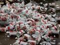 过期食品销毁处理酒水饮料销毁处理冷冻品销毁图片