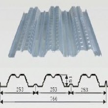 宜春奉新锁扣楼承板铝镁锰板专业安装拱形彩钢板图片
