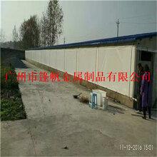 豬牛羊雞大棚畜牧養殖場卷簾窗簾布機器設備廠家直銷批發定做加工圖片
