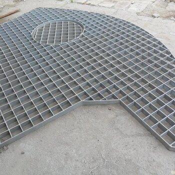 廠家定做熱鍍鋅格柵板石油化工平臺承重鋼格柵板停車場踏步板