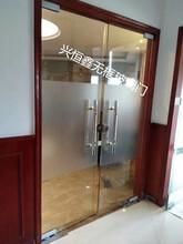 深圳玻璃門酒店玻璃門辦公室玻璃門玻璃門刷卡考勤圖片