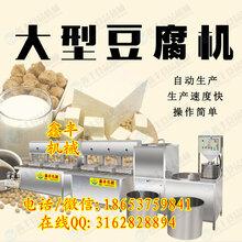 小型商用豆腐机济宁鑫丰豆腐机好用吗自动豆腐机生产视频图片