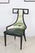 中國風新中式古典復古金屬鐵藝軟包餐椅餐桌椅子餐廳酒店椅