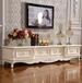 电视柜也要高颜值欧式高档电视柜组合简约白色为电视柜