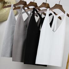 吊带背心女夏2017韩版新款v领时尚性感女装针织毛线内搭打底衫图片