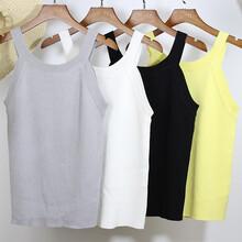 白色吊带背心女夏季2017韩版新款女士冰丝针织打底吊带衫厂家批发图片