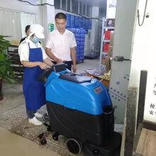 来宾全自动洗地机在食品加工厂车间保洁的应用优势图片