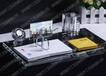 水晶台历架定制高档水晶办公用品深圳水晶工艺品定做选铭升工艺